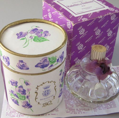 Have one to sell? Sell it yourself  Vintage VIOLETTES de TOULOUSE Perfume Berdoues FRANCE Violets