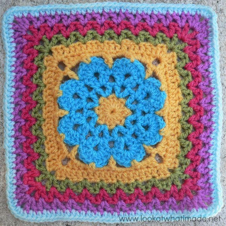 free crochet granny squares instructions