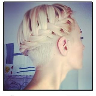 "This is actually a pretty cool idea! The undercut doesn't have to show unless you put it in a ponytail or do something like this. ""Or keep it soft. 