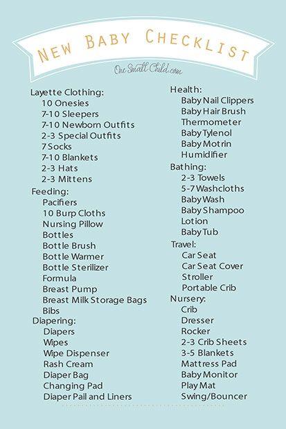 Best 25+ New baby checklist ideas on Pinterest Baby list, Baby - newborn checklist