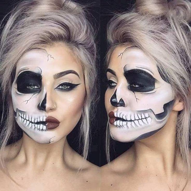 Картинки макияж скелет