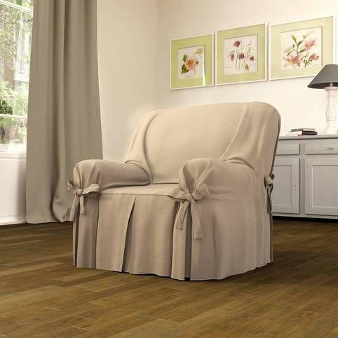 Housses fauteuils canap s coton antitaches uni ou ray - Patron housse de canape ...