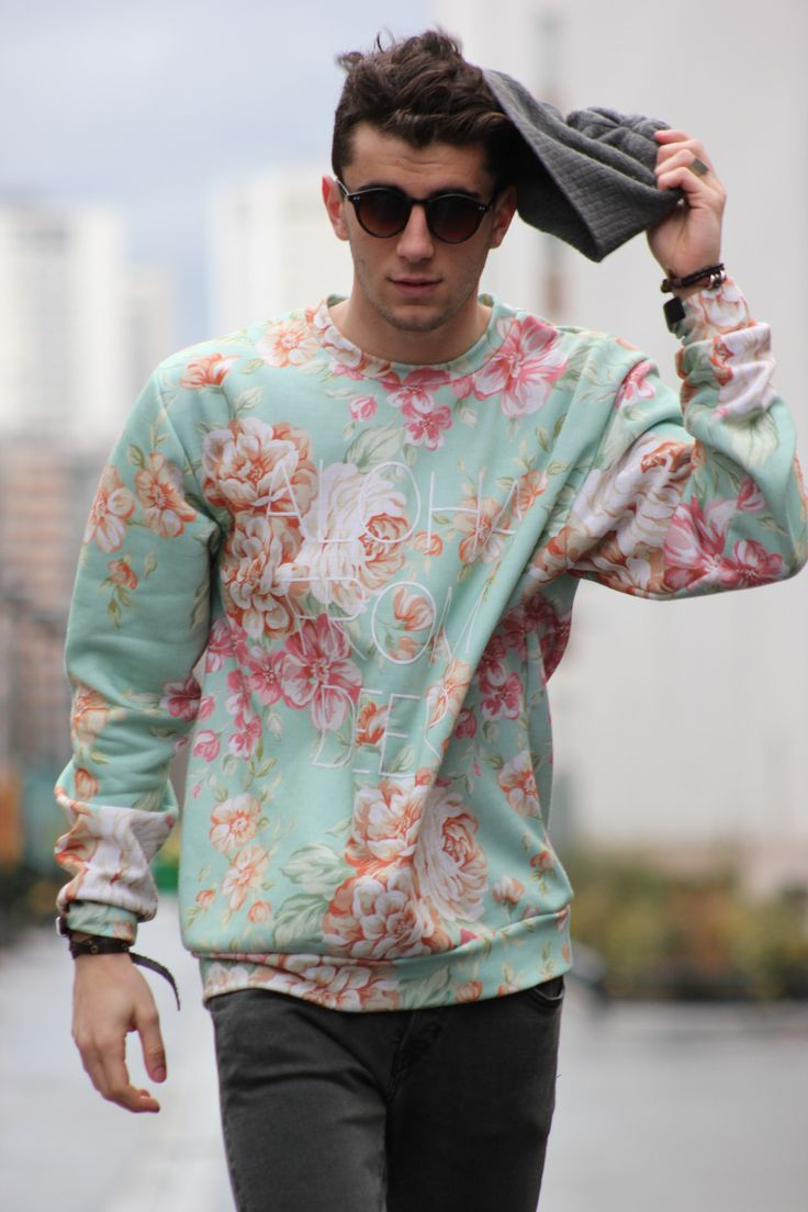 Floral Print Sweatshirt | Men's Spring 2013 Fashion #floralprint #textiledesign #mensfashion