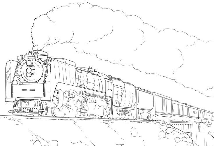 Train With Car Coloring Page Bubakids Com Train Coloring Pages Cars Coloring Pages Coloring Pages