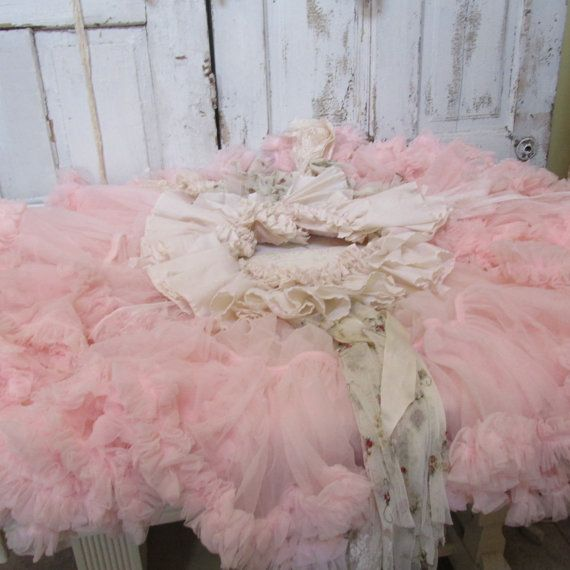 Pink cottage Christmas tree skirt shabby by AnitaSperoDesign