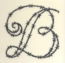 Afbeeldingsresultaat voor barb wire fonts