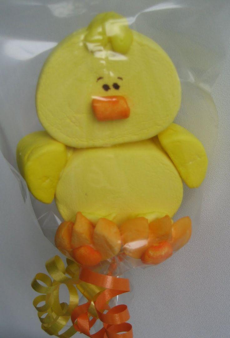 Marshmallow kabob - Cute ducky