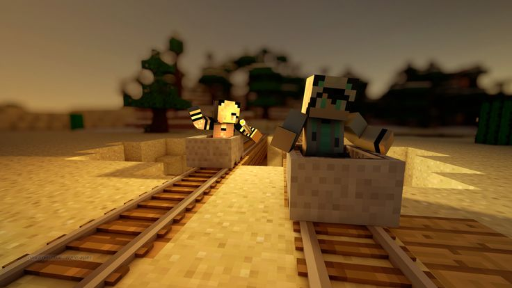 Minecarts! | GingerBlue05 rides with trainMCS7 | Novaskin | Wallpapers