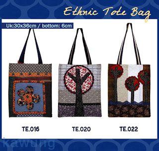 Meiki Tas Unik: Tas Etnik Sandang .... dengan aplikasi tas yang s...