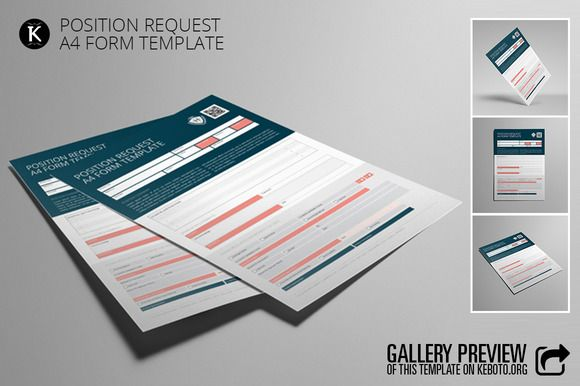Position Request A4 Form Template by Keboto on @creativemarket