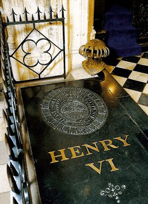 The tomb of Henry VI 1484 - The body of Henry VI was laid to rest at St. George's Chapel, Windsor Castle.
