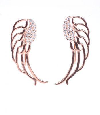 925 Ayar Gümüş Taşlı Melek Kanadı Modeli Ear Cuff Küpe