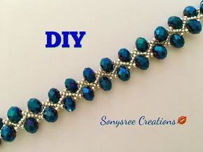 Simple and quick tutorial for a beautiful classic bracelet. Perfect for Christma...