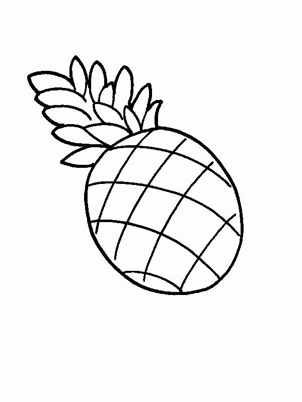 24 Cute Pineapple Coloring Page In 2020 Fruit Coloring Pages