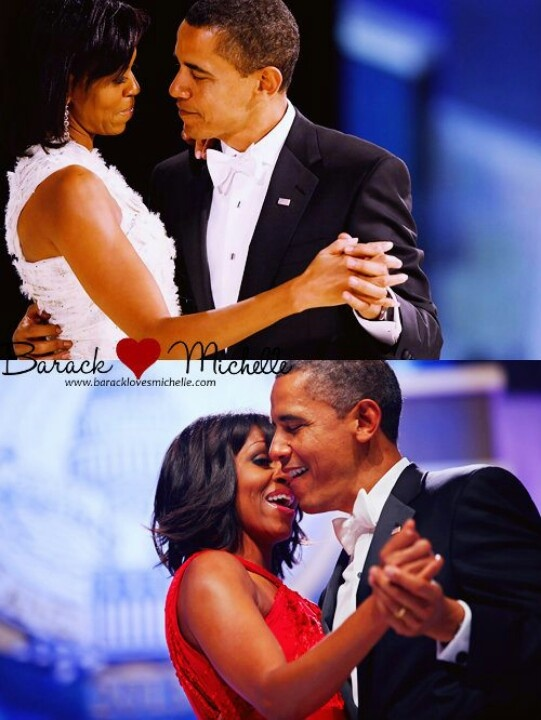 Then & Now....  1st Lady Michelle Obama With President Barack Obama...  Inaugural Ball....