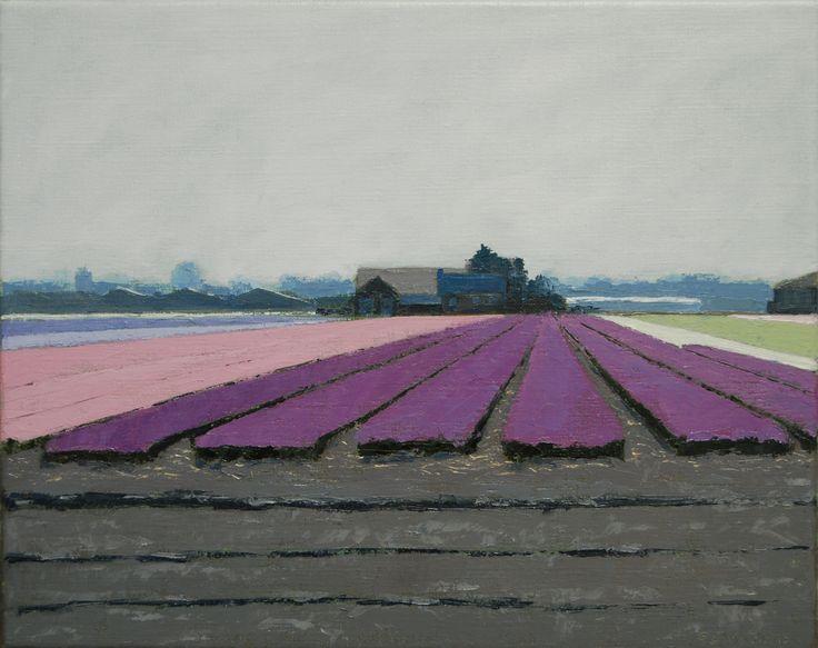 Bulb fields (40 x 50 cm) by Gineke Zikken