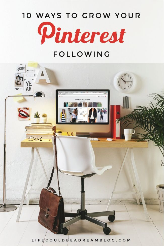 10 ways to grow your Pinterest following. Some of these I hadn't thought of before!