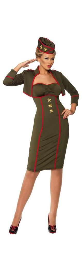 PartyBell.com - Retro Army Girl Adult #Costume