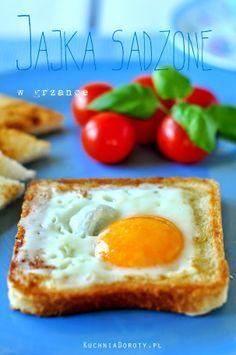 Kuchnia Doroty: Jajka sadzone w grzance najłatwiejsze