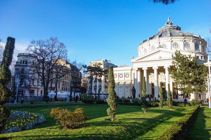 L'Athénée roumain à Bucarest vu de l'extérieur