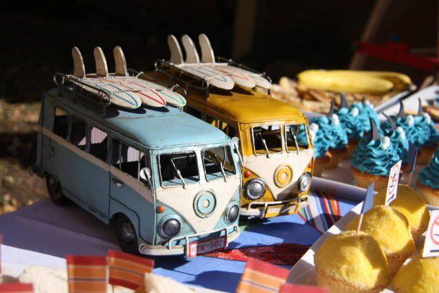 Retro surf party!  http://karaspartyideas.blogspot.com/2010/06/retro-surf-birthday-party.html
