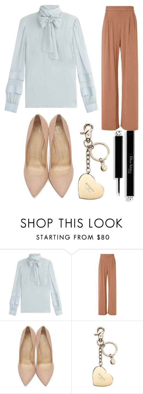 """Untitled #106"" by connorkenway2016 ❤ liked on Polyvore featuring RED Valentino, Fleur du Mal, Charlotte Olympia and Aspinal of London"