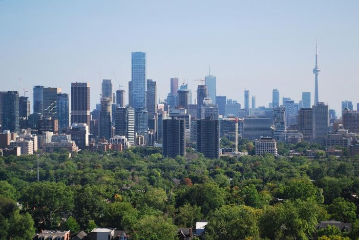 June 30, 2016: Toronto Skyline From St. Clair West, image taken August 2014 by Marcus Mitanis  #UrbanToronto #Toronto #city #skyline #tbt #throwbackthursday