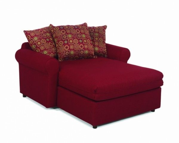 Red Leather Loveseat Sleeper Simple Popular Leather
