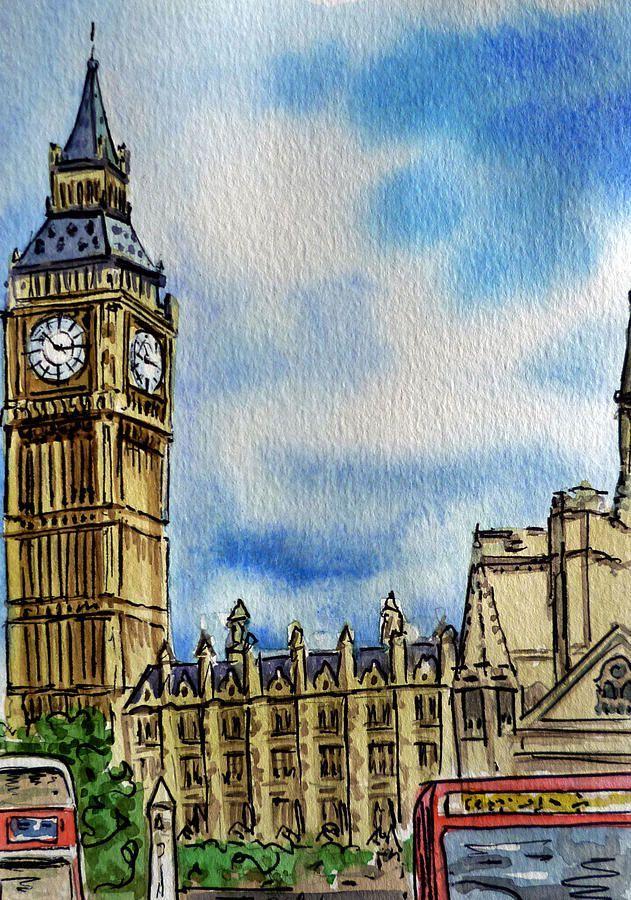 Англия картинки нарисованные, день рождения