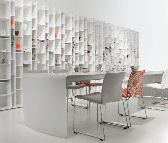 :: FURNITURE :: lovely shelving details Random by MDF Italia. looks pretty in white #bookshelves #MDFItalia #white