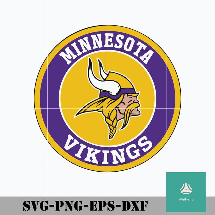 Minnesota Vikings Logo Svg Minnesota Vikings Svg Vikings Svg Nfl Svg Png Dxf Eps Digital File Minnesota Vikings Logo Viking Logo Cute Poster