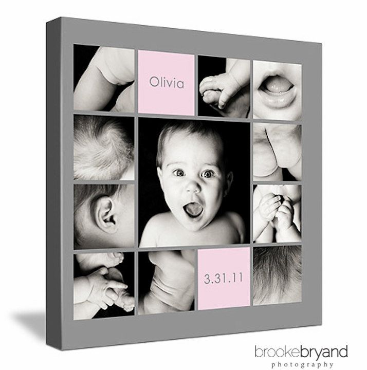 """Collage Canvas (baby's 1st year, """"baby parts"""",   @Renee Peterson Peterson Peterson Perrin"""