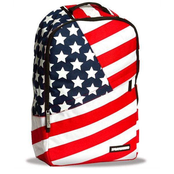 Sprayground American Flag Symbol Backpack