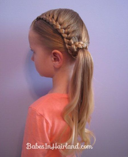 Girls Hairstyles - Back to School - Cute Braided Ponytail
