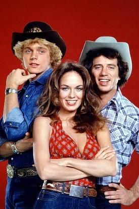 Bo, Luke and Daisy Duke from the original Dukes Of Hazzard