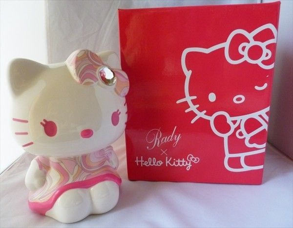 Rady x Hello Kitty Shocking Pink Piggy Bank from JAPAN NIB RARE promotional item