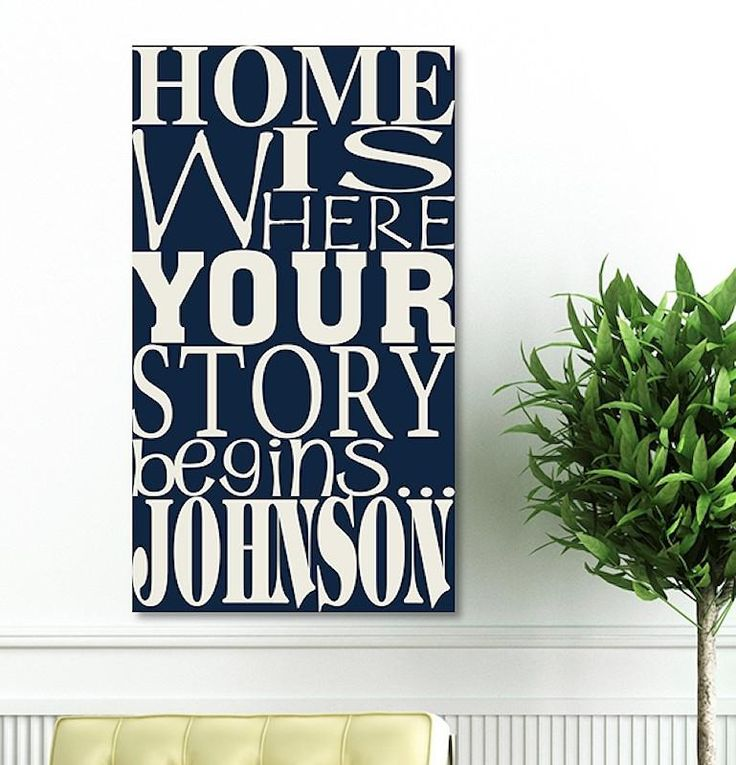 Where Our Story Begins Canvas in 2 Colors |Personalized Wall Art 14x24