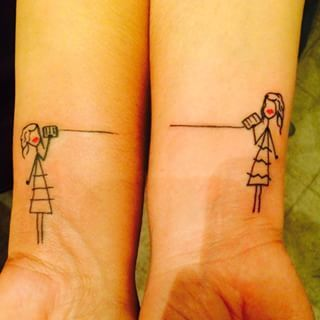 For the person you could talk to forever: | 56 Perfect Tattoos To Get With Your Friends