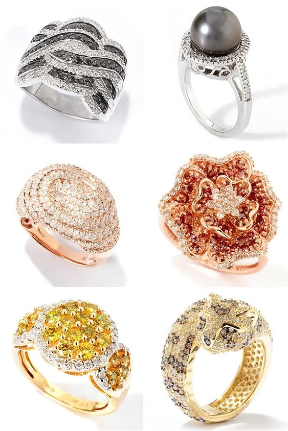 Bling Fling! Non traditional #wedding #rings. Hot or not? We think: HOT