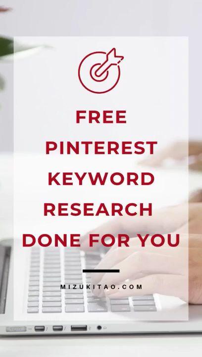 Kostenlose Pinterest-Keyword-Recherche für Sie erledigt