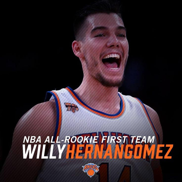 Congratulate Willy Hernangómez Geuer on being named to the @NBA All-Rookie First Team!  #Knicks