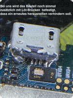 Smartphone Micro USB Dock mit Montage