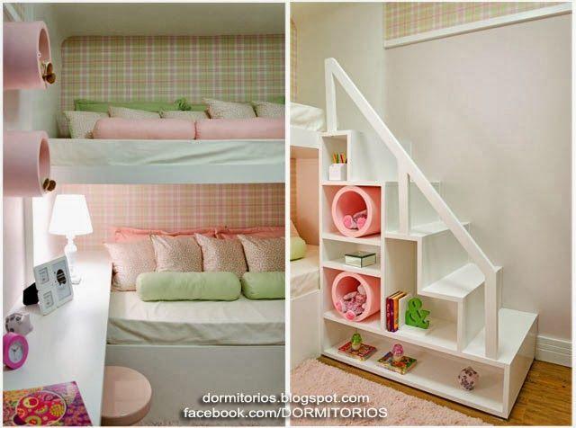Dormitorio colores pastel para ni 640 476 - Dormitorios para habitaciones pequenas ...