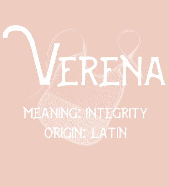 Verena - Uncommon Girl Baby Names That Aren't Overused Yet - Photos