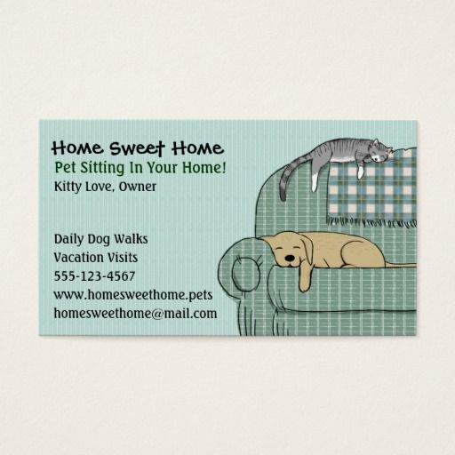 255 best pet care business cards images on pinterest business cute dog and cat pet sitting animal services business card colourmoves