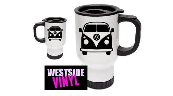 Kombi mugs , Stainless Steel, Lid, Travel, Work, Add Any Name Image Logo, Funny Travel Mug, Coffee Mug, Coffee Mugs, Funny Mugs, Funny Gifts