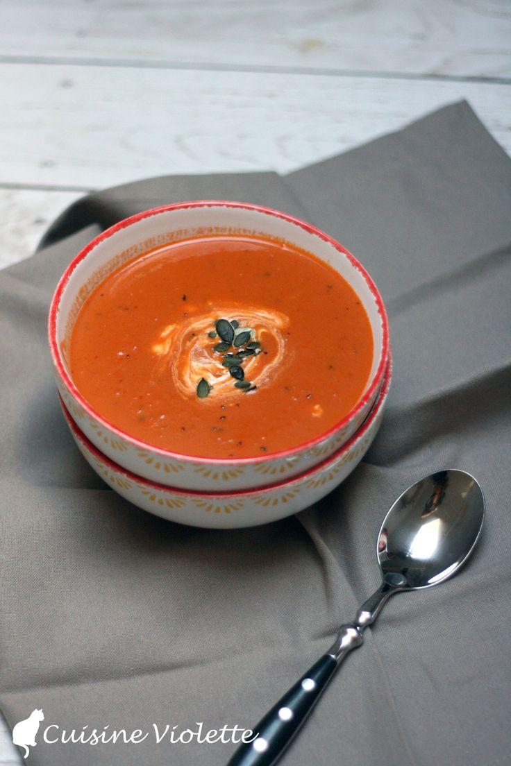 tomatencremsuppe cuisine violette - Couisin En Bois Ehter