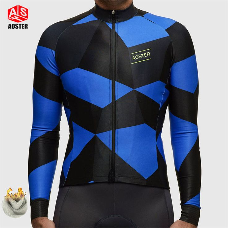 ==> [Free Shipping] Buy Best AOSTER 2017 men winter cycling jersey only fleece thermal hot sale ropa ciclismo invierno mtb bike winter cycling clothing sport Online with LOWEST Price | 32807780909