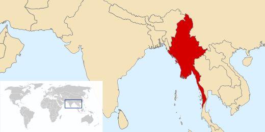Localização  Mianmar, Mianmá, Birmânia