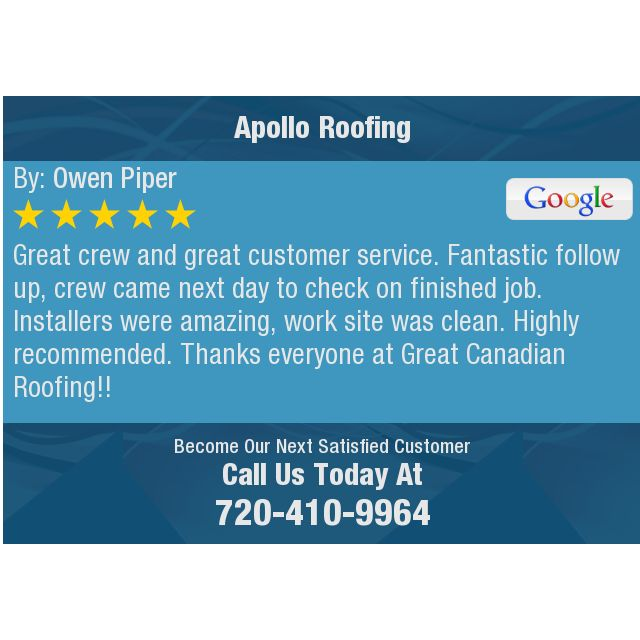 Great crew and great customer service. Fantastic follow up, crew came next day to check on...